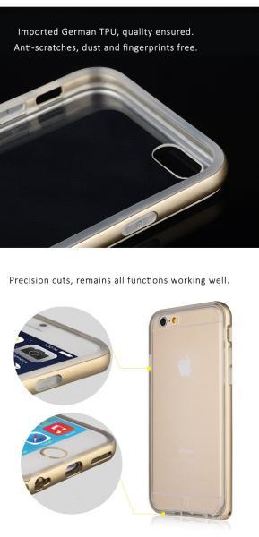 Bumper BASEUS Fusion iPhone 6 Plus / 6S Plus 5.5 / Сребърен /