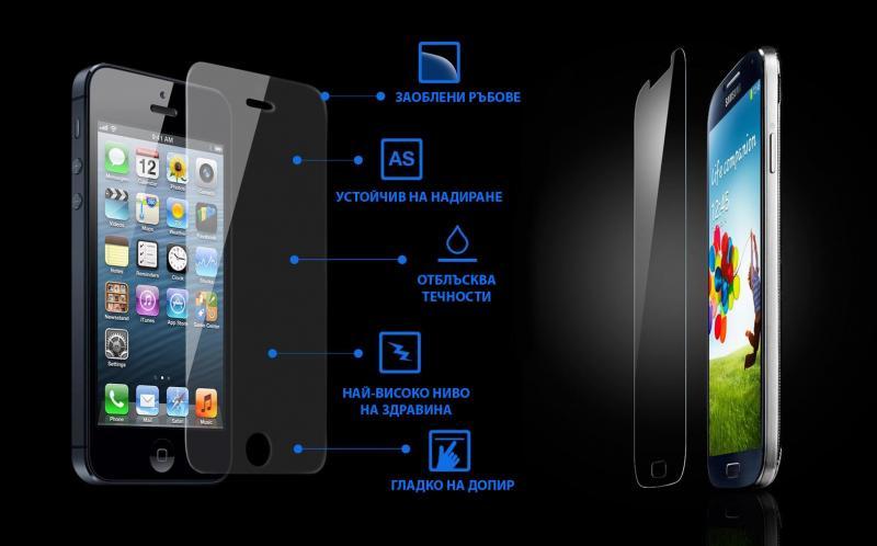 Стъклен screen protector 2в1 за iPhone 6 Plus / iPhone 6S Plus / Преден и заден/