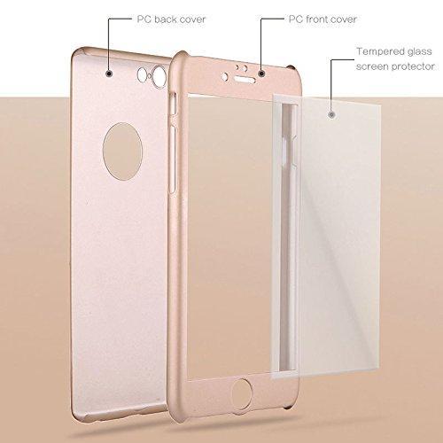 Калъф VORSON Ултратънък 360 SHANG /Розово злато/ за iPhone 7 Plus / 8 Plus 5.5