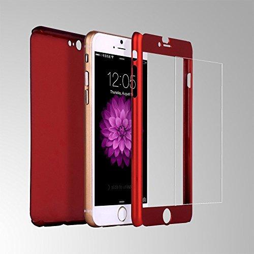 Калъф VORSON Ултратънък 360 SHANG /Червен/ за iPhone 7 Plus / 8 Plus 5.5