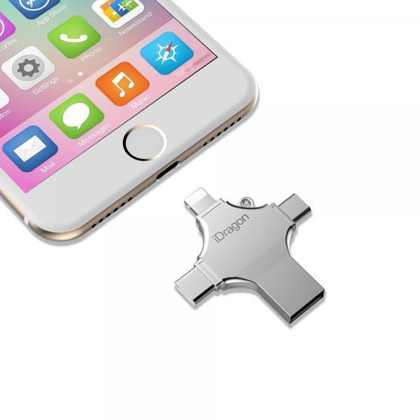 USB Флаш Памет iDragon  / USB,Type-C,Micro USB, Lightning / 16GB