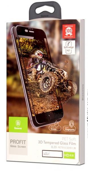 3D Baseus Стъклен screen protector 0.23 /Бял/ за iPhone 6 Plus  / 6S Plus 5.5