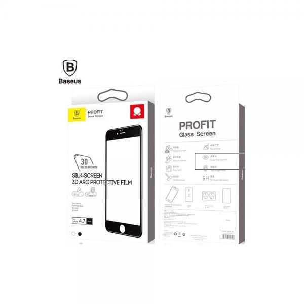 3D ARC Baseus Стъклен screen protector  /Черен/ за iPhone 6 Plus / 6S Plus 5.5