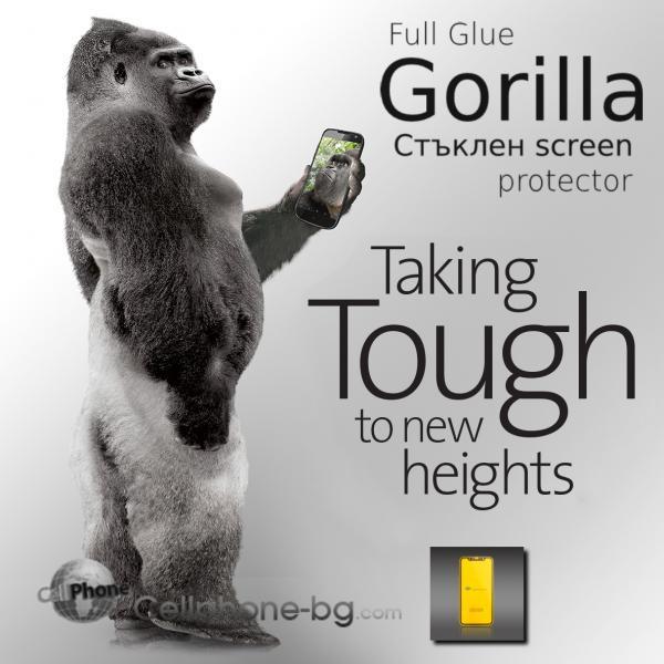 Full Glue Gorilla Стъклен screen protector /Черен/ за iPhone 6 Plus / 6S Plus 5.5