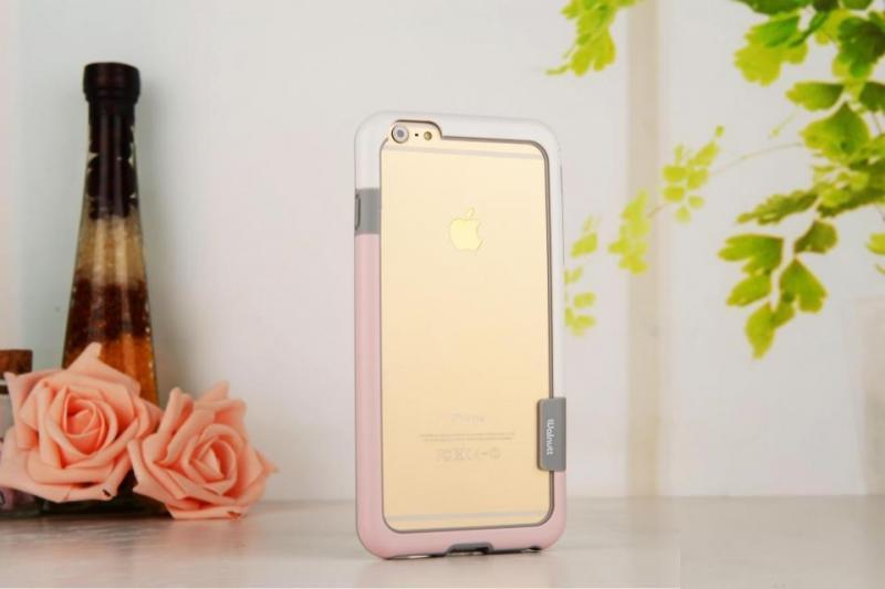 Bumper Wallnut /Бял-Розов/ за iPhone X / XS / 11 PRO 5.8