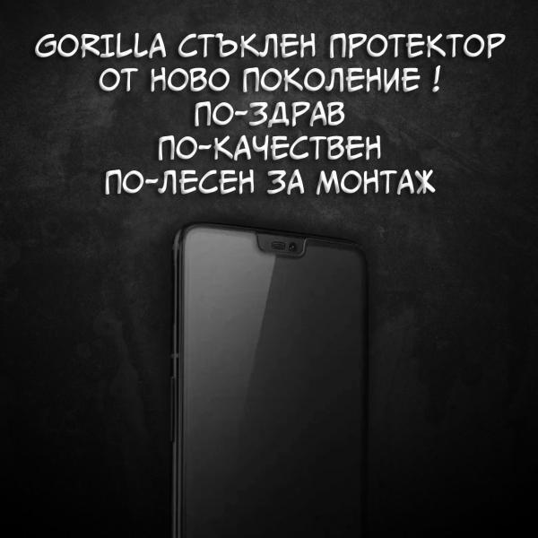 Full Glue NEW Gorilla Стъклен screen protector /Черен/ за iPhone X / XS / 11 PRO 5.8