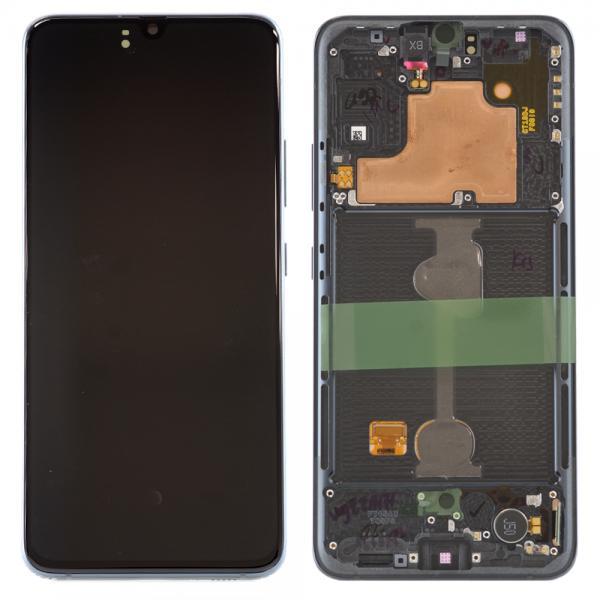 LCD Дисплей за Samsung A90 5G / SM-A908B / GH-21092A / Тъч скрийн / Черен / Оригинал Service Pack
