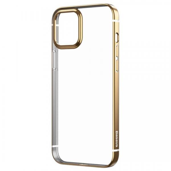 Калъф силикон BASEUS Shining Anti-Fall / Златен / за iPhone 12 Mini 5.4