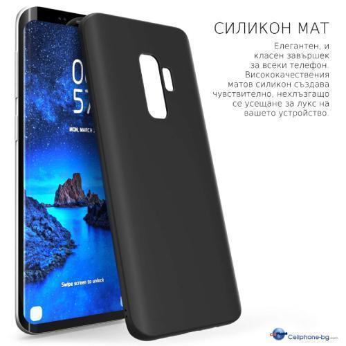 Калъф силикон /черен мат/ за Samsung M31 (M315)