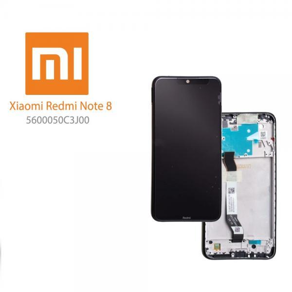 LCD Дисплей за Xiaomi Redmi Note 8  (2019) 5600050C3J00 / Тъч скрийн / Рамка / Черен / Оригинал Service pack